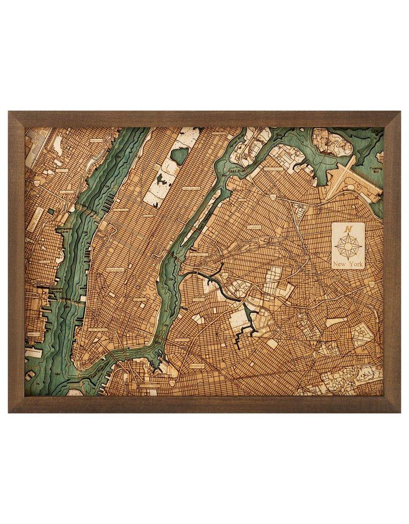 Manhattan 3d Wall Map 40.5cmx30.5cm