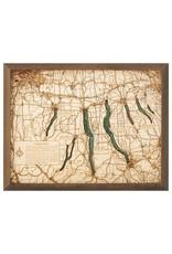 Finger Lakes 3d Wall Map 40.5cmx30.5cm