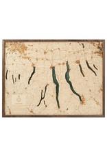 Finger Lakes 3d Wall Map 81cmx61cm