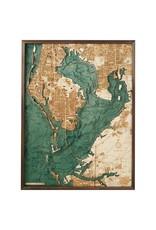 Tampa Bay 3d Wall Map 61cmx81cm