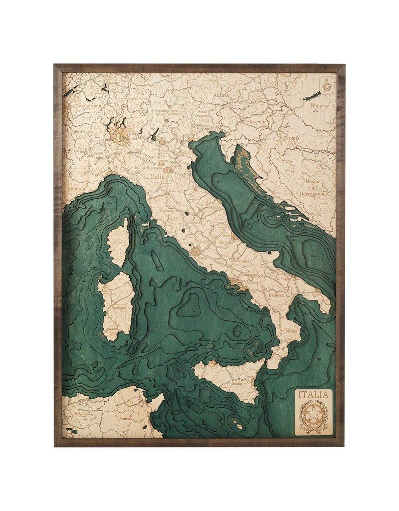Italy 3d Wall Map 81cmx61cm