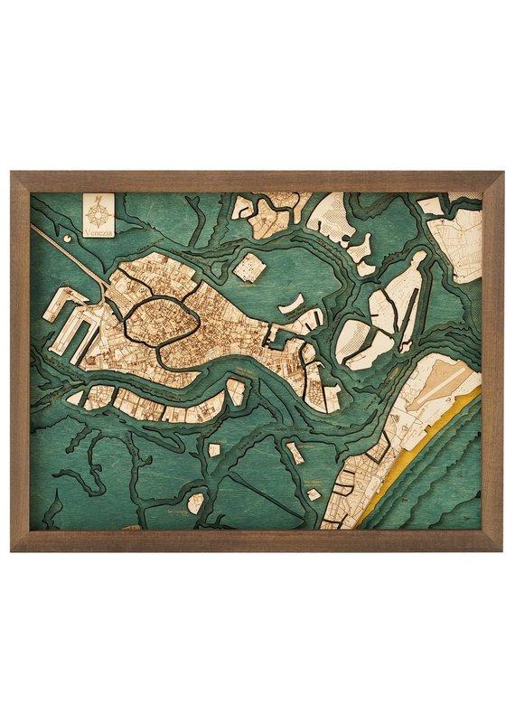 Venice 3d Wall Map 40.5cmx30.5cm