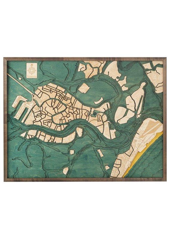 Venice 3d Wall Map 81cmx61cm
