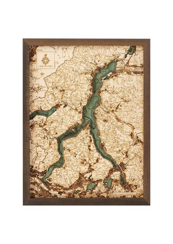 Lake Como 3d Wall Map 30.5cmx40.5cm
