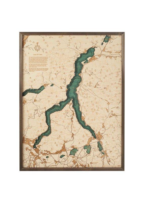 Lake Como 3d Wall Map 81cmx61cm