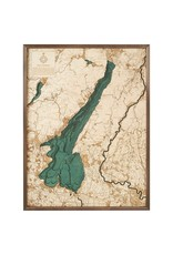 Lake Garda 3d Wall Map 81cmx61cm