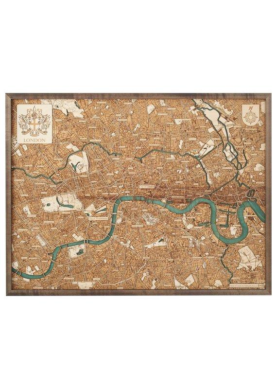 London 3d Wall Map 81cmx61cm