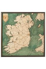 Republic of Ireland 3d Wall Map 76cmx76cm