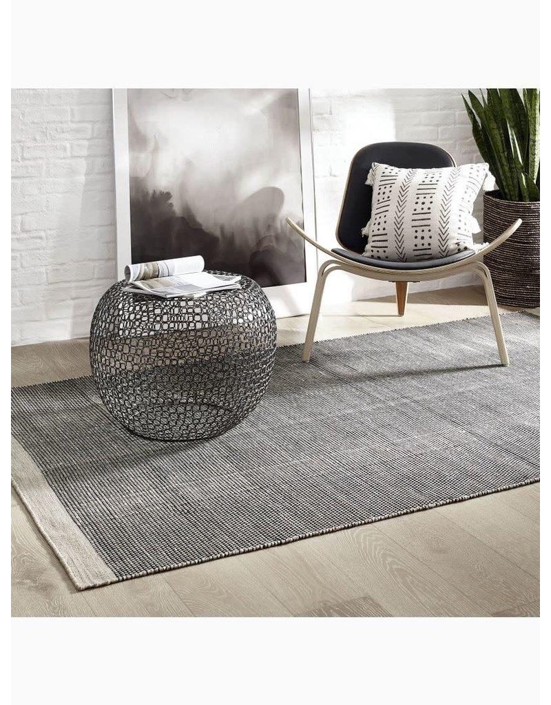 Fab Habitat Kingscote - Black & Beige - Indoor Outdoor PET (Polyester Fiber) Rug 3'x5'