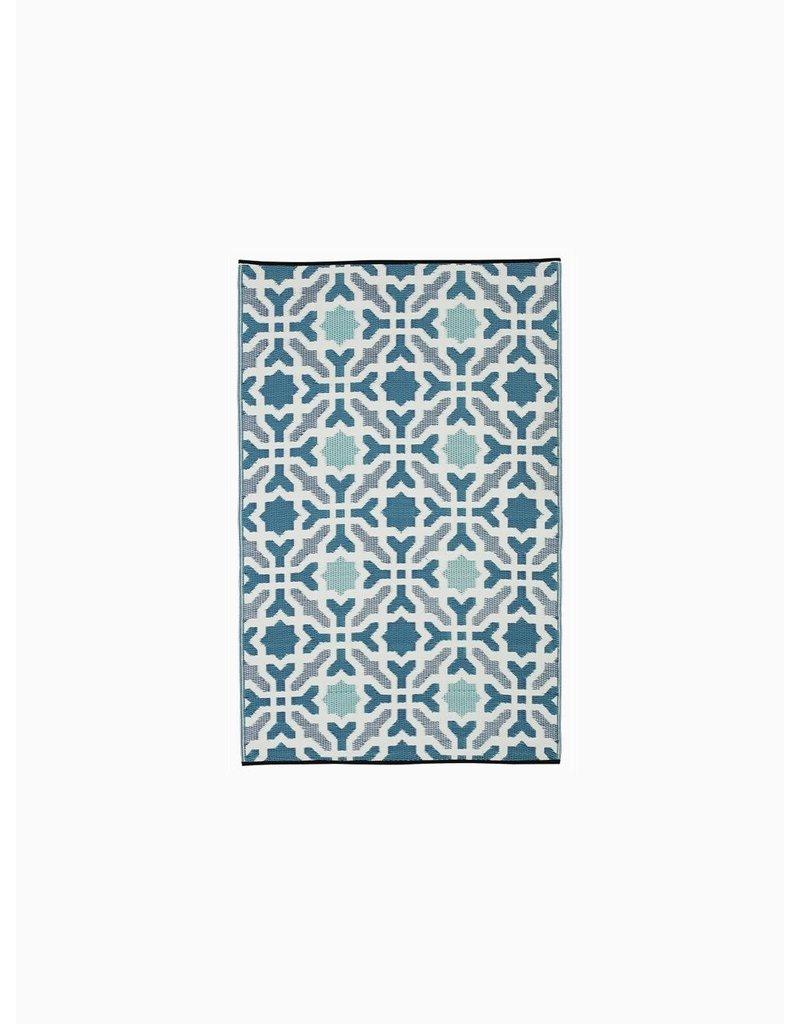 Fab Habitat Seville - Multicolor Blue 6'x9'