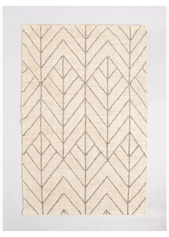 Fab Habitat Sydney - Ivory & Gray Jute Rug 5'x8'