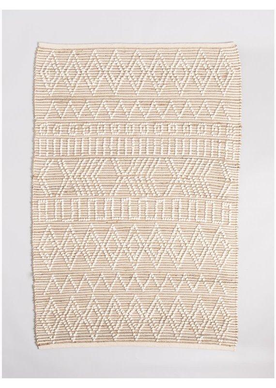 Fab Habitat Tongass - Natural & Ivory Hemp/Wool Rug 5'x8'