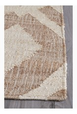 Fab Habitat Echo - Ivory & Natural Jute Rug 5'x8'