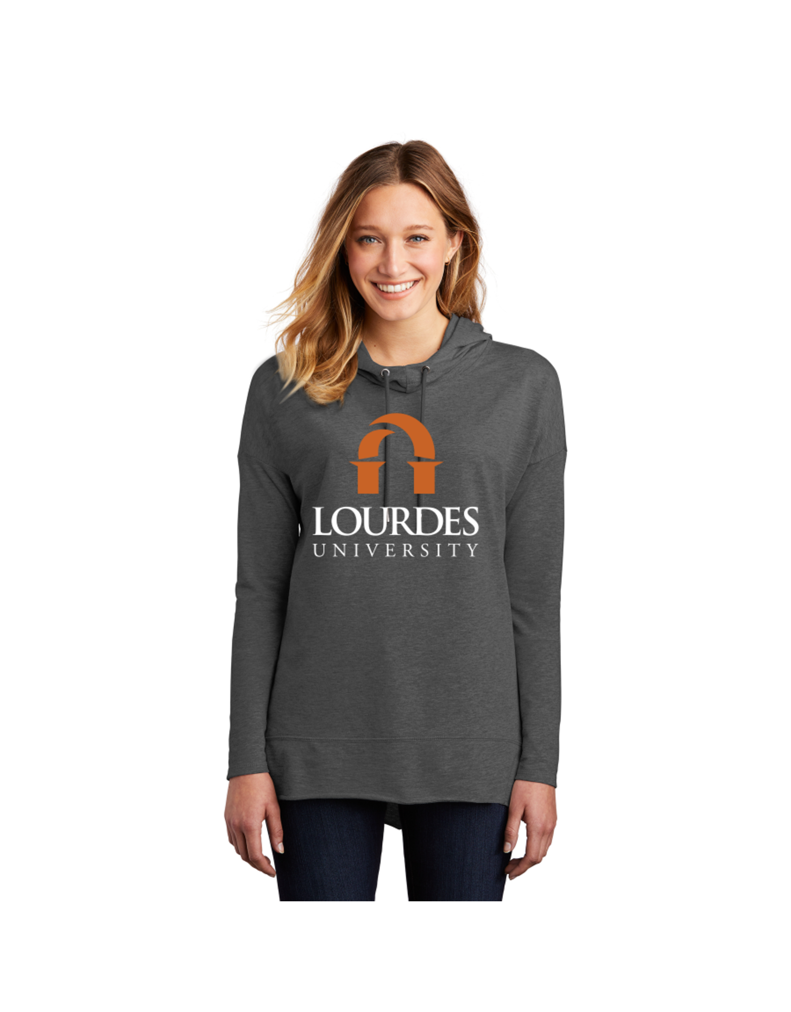 District District®Women's Featherweight French Terry™Hoodie | Lourdes Univ.