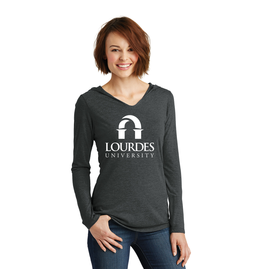 District District ® Ladies Perfect Tri ® Long Sleeve Hoodie | Lourdes Univ *.
