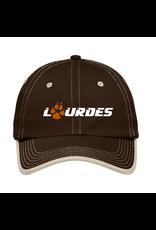 Port & Co Port Authority®Contrast Stitch Cap | Lourdes w/paw - Brown Stone *