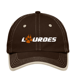 Port & Co Port Authority® Contrast Stitch Cap | Lourdes w/paw - Brown Stone *