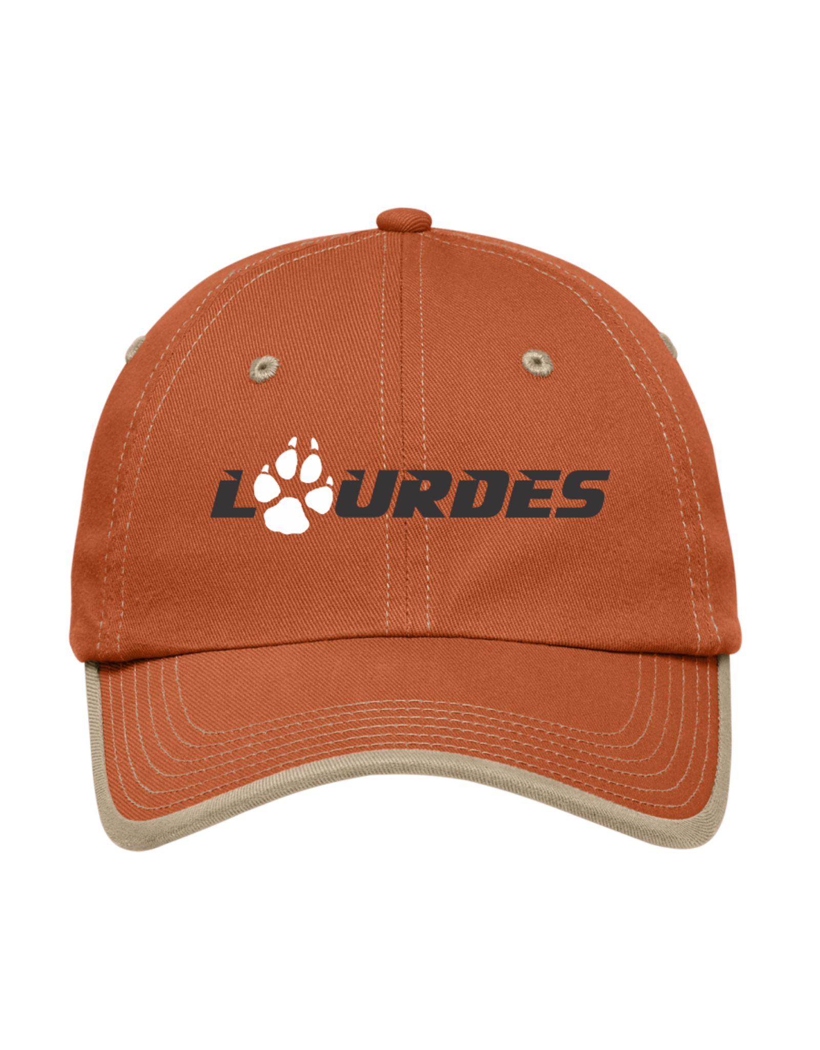Port & Co Port Authority® Contrast Stitch Cap | Lourdes w/paw - Burnt Orange *