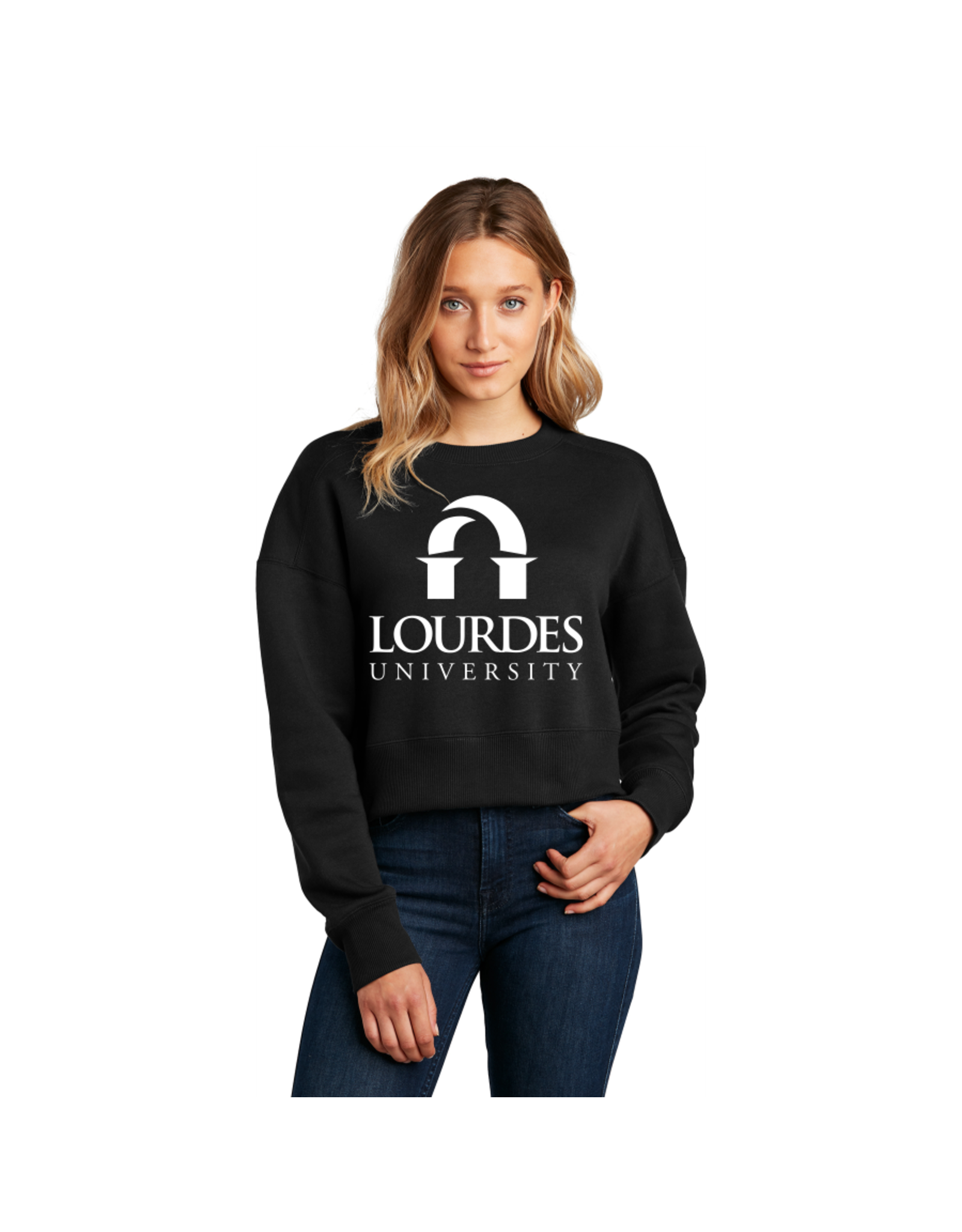 District District ® Women's Perfect Weight ® Fleece Cropped Crew | Lourdes Univ. *