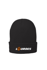 Port & Co Port & Company®Fleece-Lined Knit Cap- Black-Lourdes w/paw