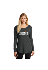 District District ® Women's Perfect Tri ® Long Sleeve Tunic Tee-GRNG- Black Frost