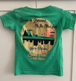 "T-Shirt (Fow Wow Kids ""Grass is Greener"" in Green)"