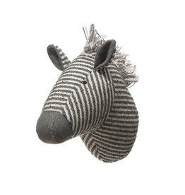 Wool Blend Zebra Head Wall Decor