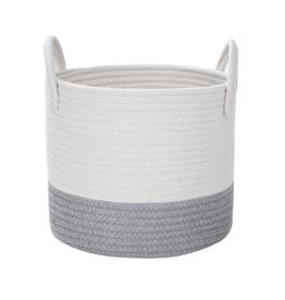 Basket (Cotton Rope Storage - Gray)
