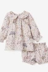 Floral Print Dress w/ Bloomer