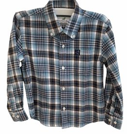Properly Tied Flannel Blue + Brown