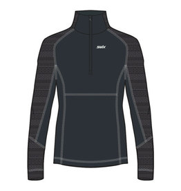 Swix Myrene Women's 1/2 zip Midlayer L (10000) Black
