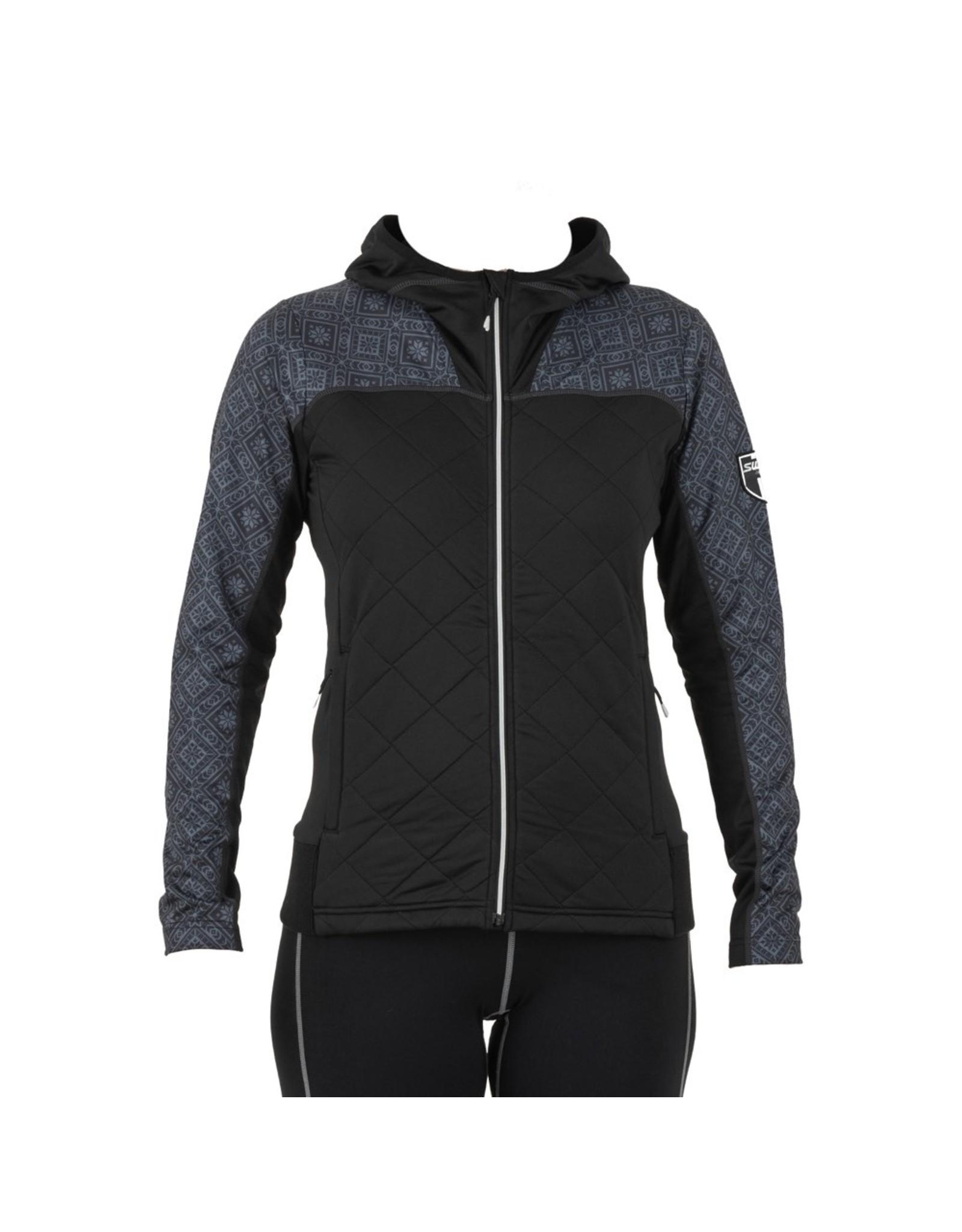 Swix Myrene Women's Full Zip Quilted Midlayer XL (10000) Black