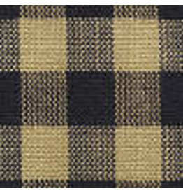 Yd. Navy Blue and Tan Small Check Fabric #22