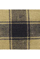 Yd. Navy Blue and Tan House Check Fabric #24