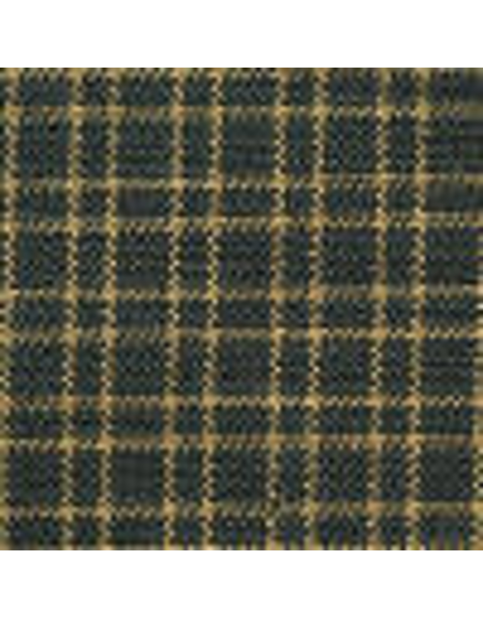 Yd. Green and Tan Reverse Double Pane Fabric #411