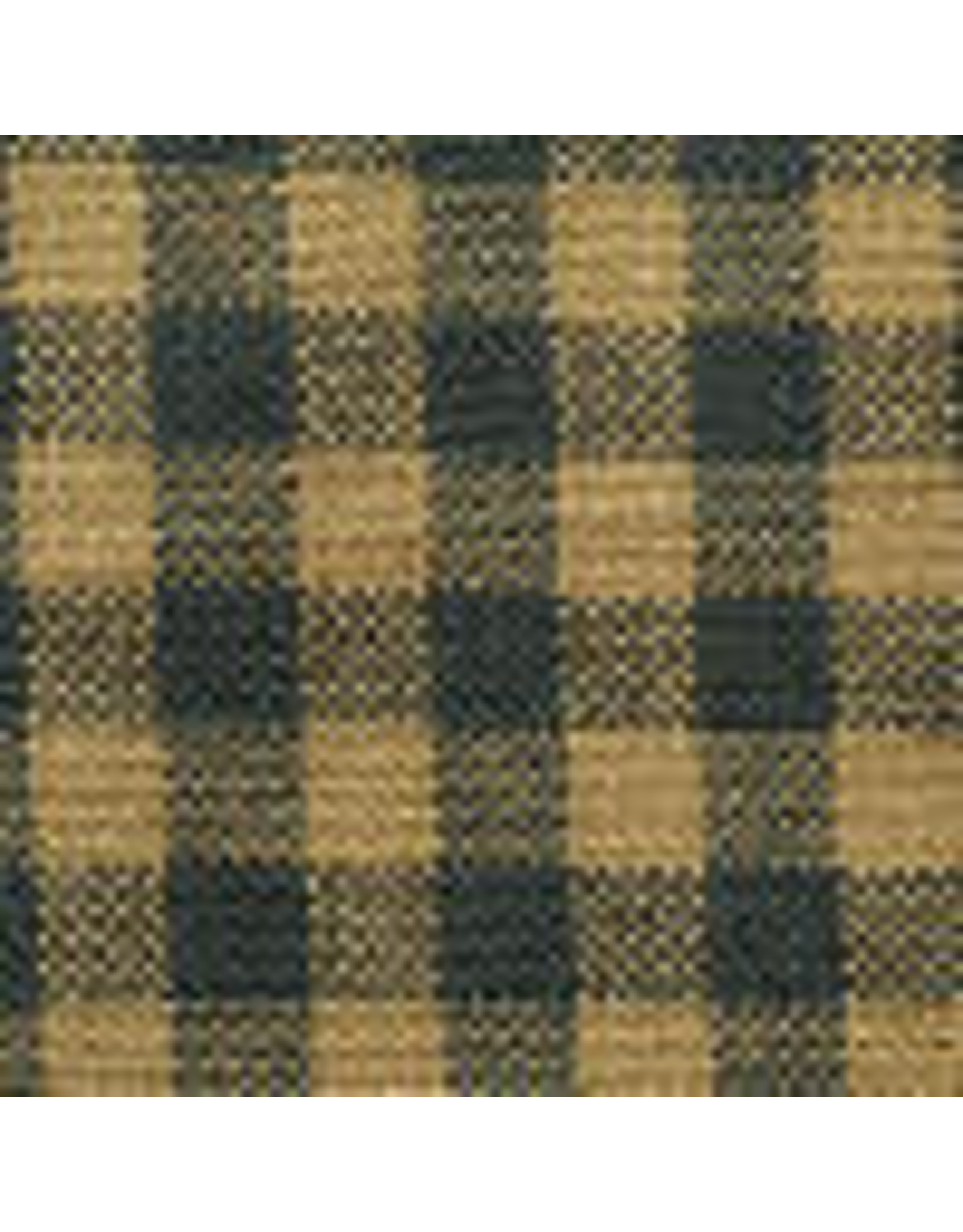 Yd. Green and Tan Little Square Check Fabric #404