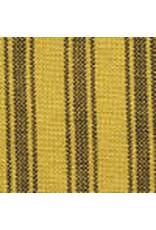 Yd. Mustard and Black Ticking Fabric #76
