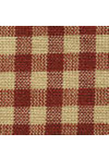 Yd. Red and Tan Little Square Check Fabric #304