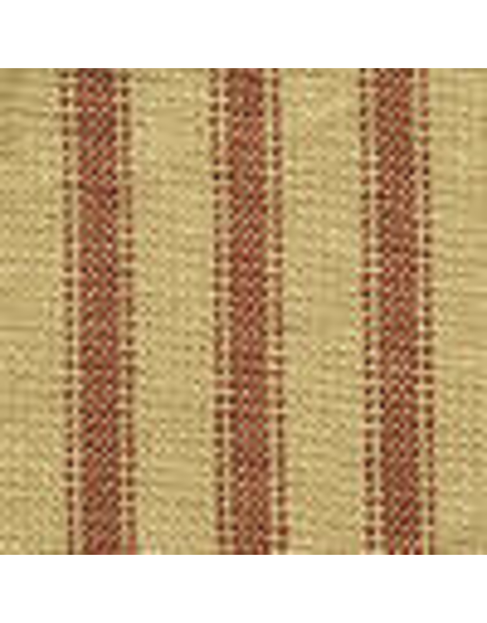 Yd. Red and Tan Ticking Fabric #36