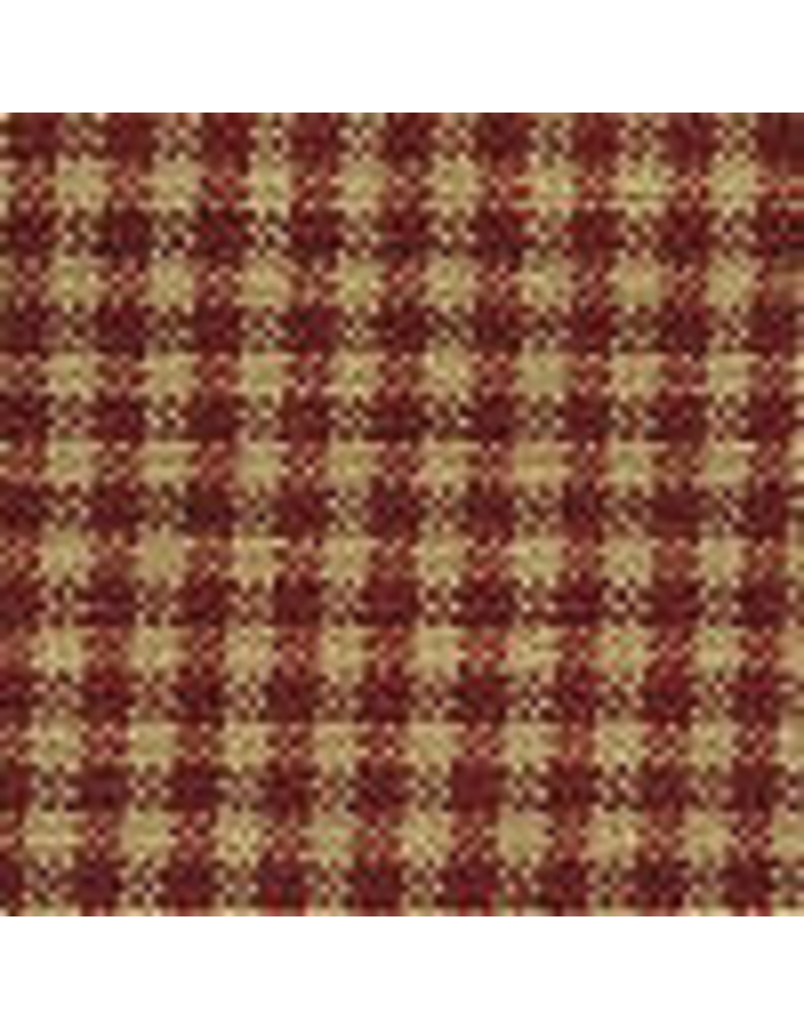 Yd. Red and Tan Mini Check Fabric #33