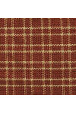 Yd. Red and Tan  Reverse Double Pane Fabric #311