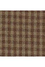 Yd. Brown and Tan Mini Check Fabric #93