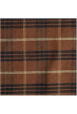 Yd. Brown and Black Bentley Plaid Fabric #1093