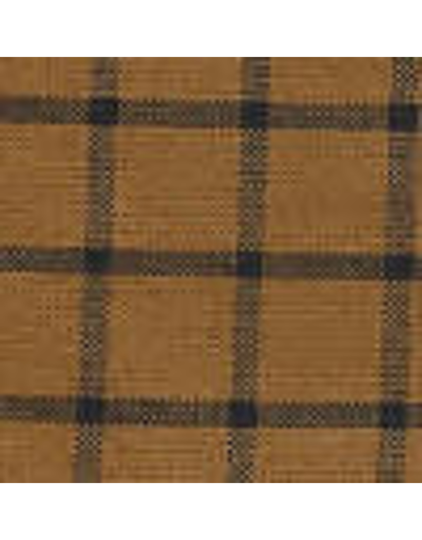 Yd. Pumpkin and Black Window Pane Fabric #5050