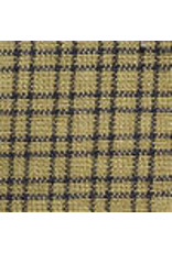 Yd. Navy and Tan Double Pane Fabric #202