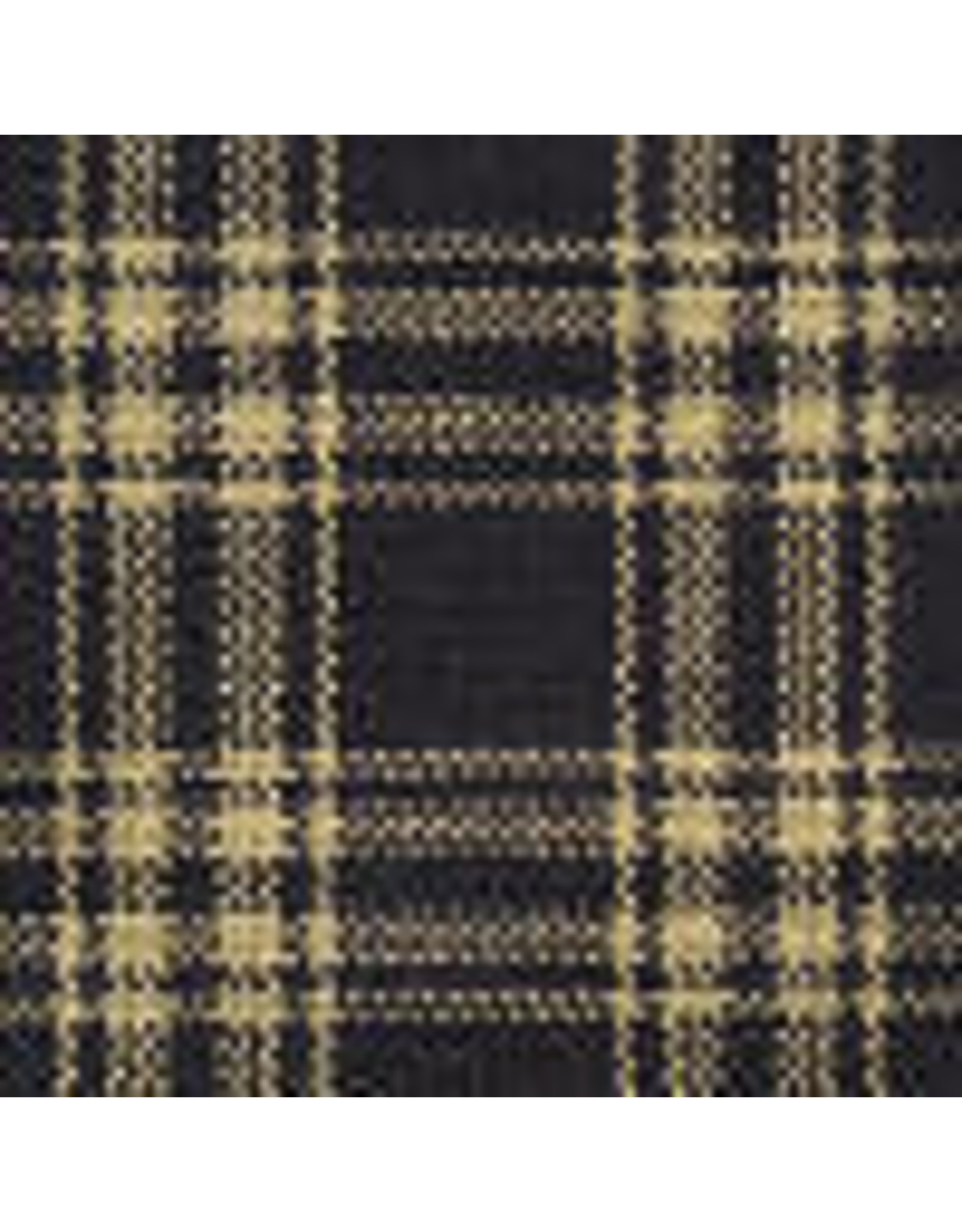 Yd. Navy and Tan Catawba Fabric #21