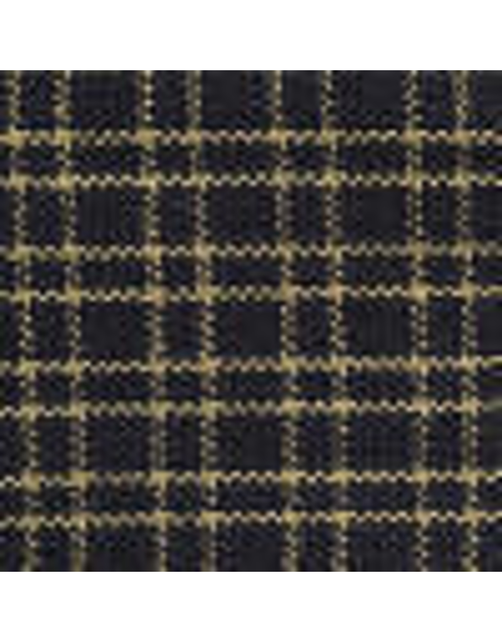 Yd. Navy and Tan Reverse Double Pane Fabric #211