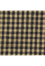 Yd. Navy and Tan Mini Check Fabric #23