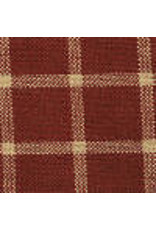 Yd. Red and Tan Reverse Window Pane Fabric #301