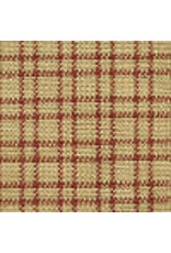 Yd. Red and Tan Double Pane Fabric #302